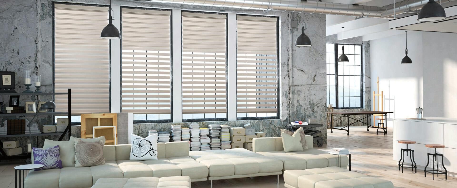 dual sheer blinds