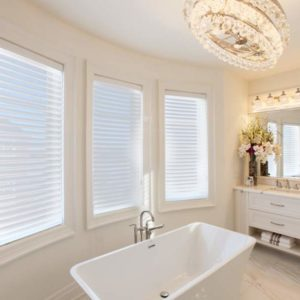 sheer fabric horizontal blinds